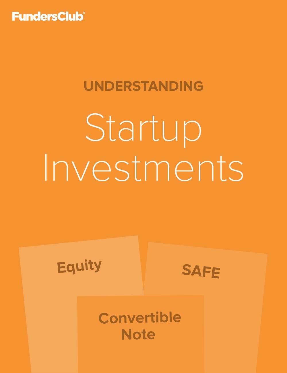 Understanding Startup Investments